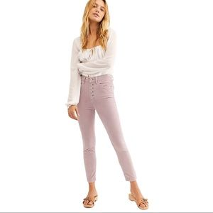 Free People Sun Chaser Cord Skinny Pants Lilac
